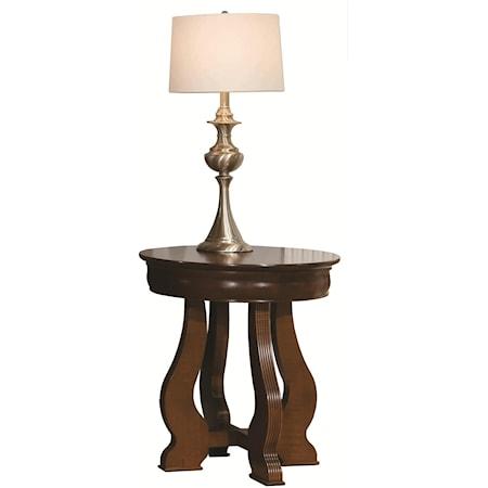 Louis Phillipe Round Lamp Table