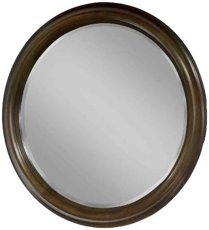 Durham Parkwood  Contemporary Round Wall Mirror for Dresser