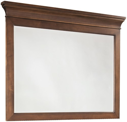 Durham Prominence Mirror with Crown Molding