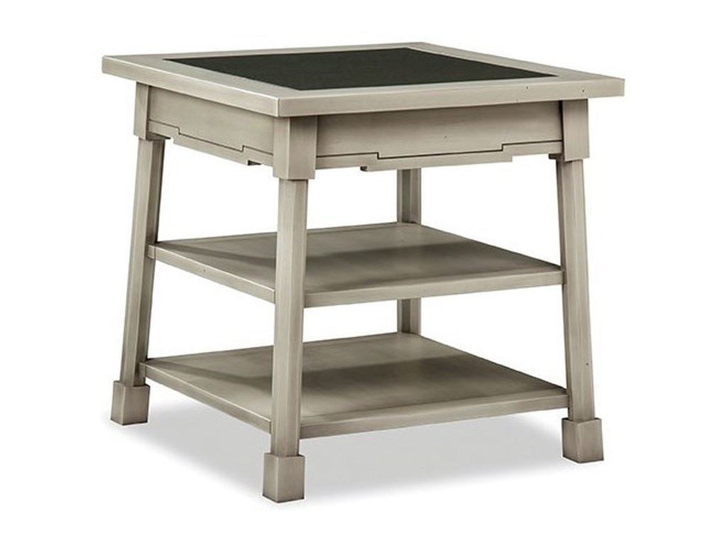 Durham Solid Accents - Classic FoundrySquare End Table with Glass