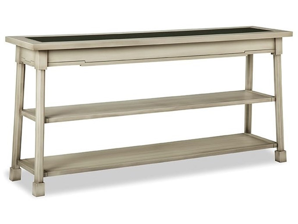 Durham Solid Accents - Classic FoundryConsole Table with Glass