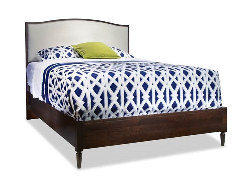 Durham Solid ChoicesQueen Upholstered Arch Top Bed