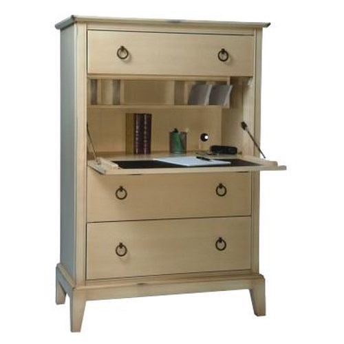 Durham Solid Choices Secretary Chest with Drop Down Writing Desk