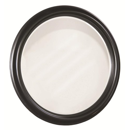 Durham Solid Choices Round Wall Mirror for Casual Home Accent