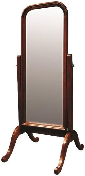 Durham Solid Choices Cheval Floor Mirror for Bedrooms, Living Rooms Accent or Powder Rooms