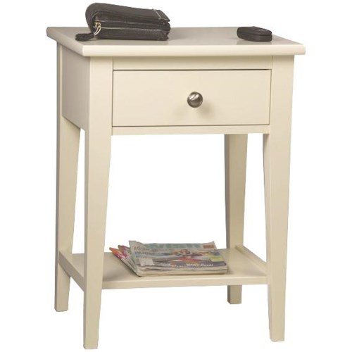 Durham Solid Choices Transitional Open Night Stand for Bedrooms or End Table