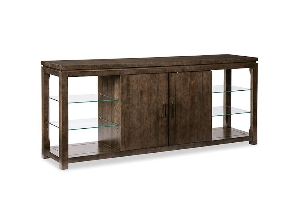 Durham Solid ChoicesGlass Shelf Console Cabinet