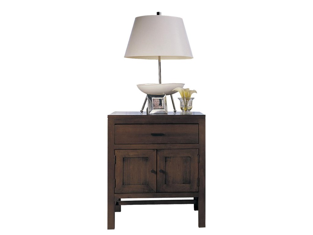 Night Stand Shown with Lamp