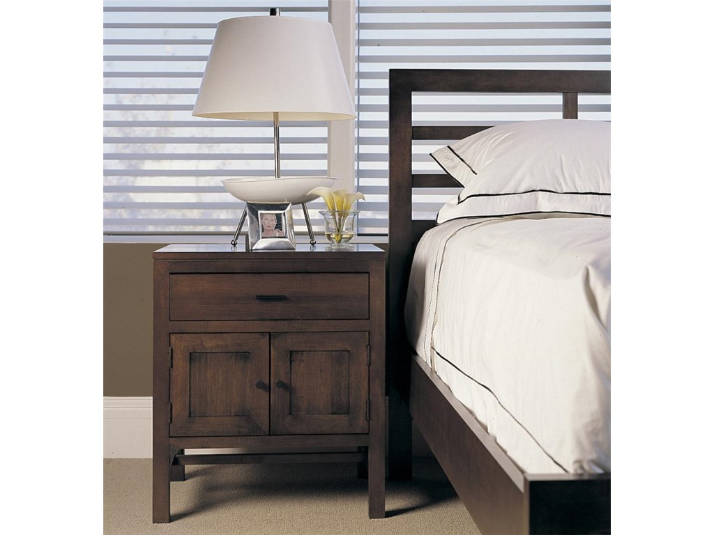 Night Stand Feature with Bed