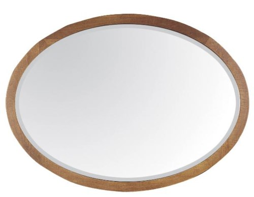 Durham Lodo Oval Mirror With Solid Wood Frame Stuckey Furniture