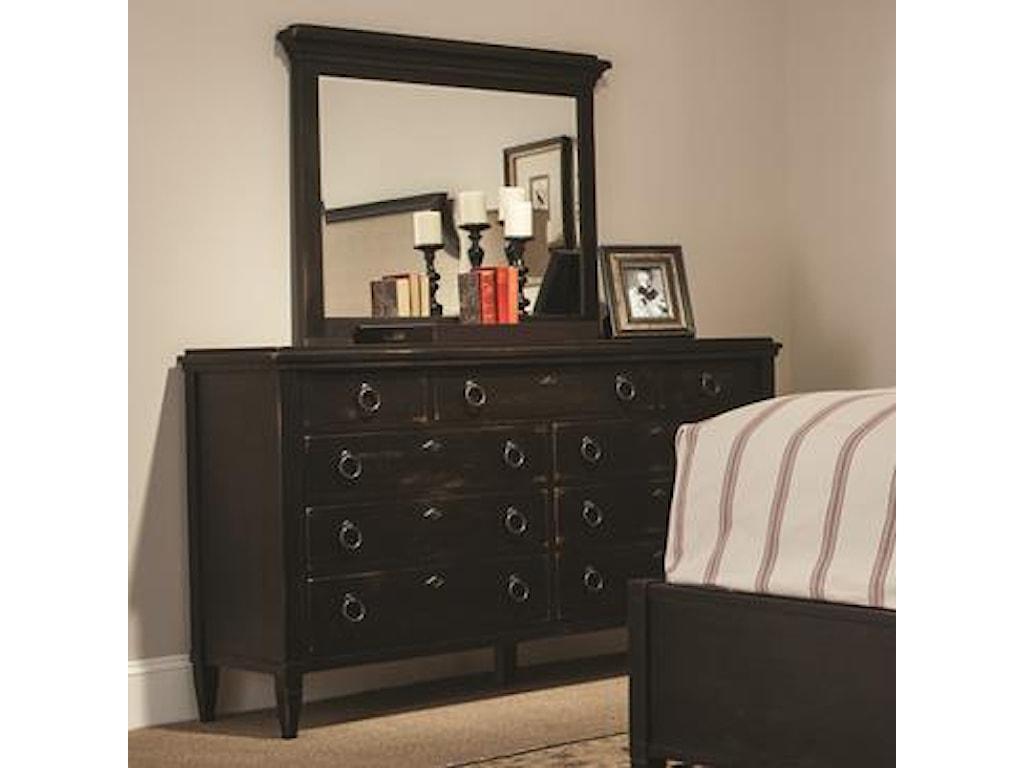 Durham SpringvilleDresser and Vertical Frame Mirror