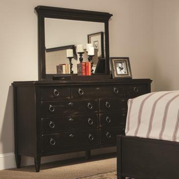 Durham Springville Drawer Dresser w/ Vertical Mirror