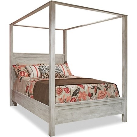 Queen Poster Bed with Canopy