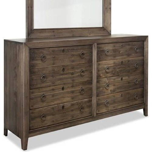 Durham The Distillery  Eight Drawer Dresser With Soft Close Guides