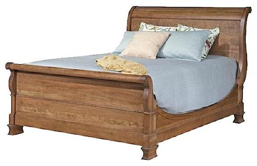 Durham Vineyard Creek  King Size Master Bedroom Sleigh Bed with Rustic Vineyard Charm