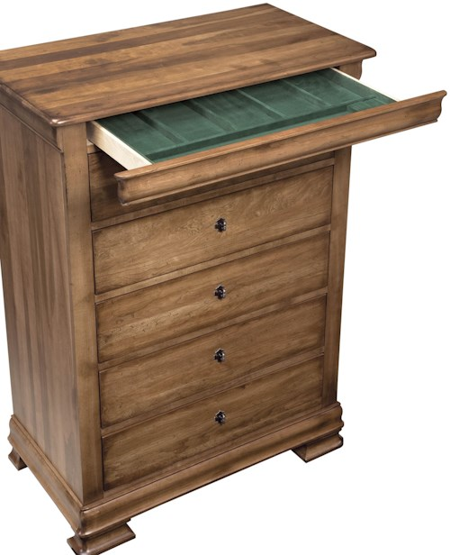 Durham Vineyard Creek  Decorative Drawer Chest with Hidden Jewelry Tray