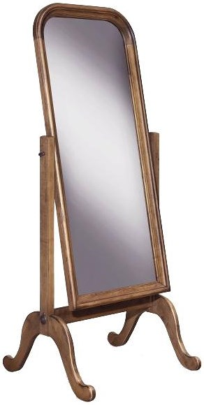 Durham Vineyard Creek  Master Bedroom Cheval Floor Mirror in Cottage Furniture Style