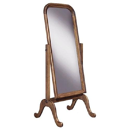 Durham Vineyard Creek  Master Bedroom Cheval Floor Mirror in Cottage Furniture Style