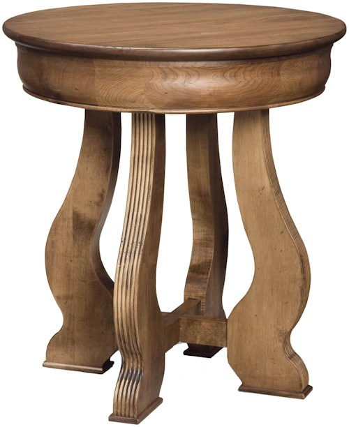 Durham Vineyard Creek  Round Lamp Bedside Table with Cottage Furniture Look