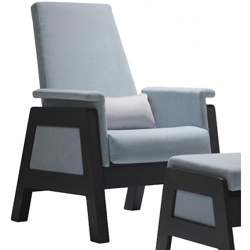Dutalier 7321 Modern Accent Glider Chair with Soft Padding and Unique Style