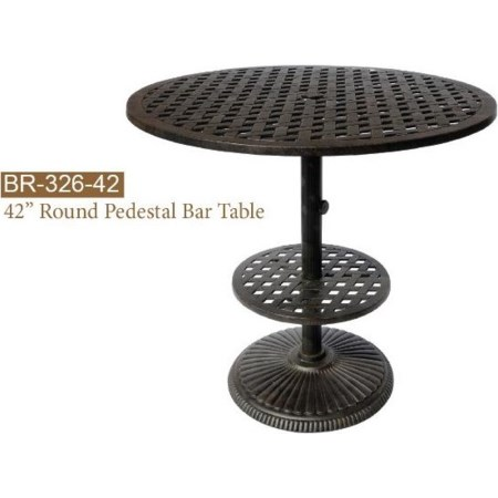 Round Pedestal Bar Table