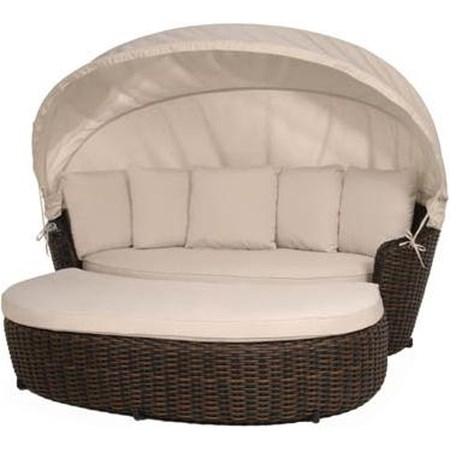 Daybed with Canopy and Ottoman Set