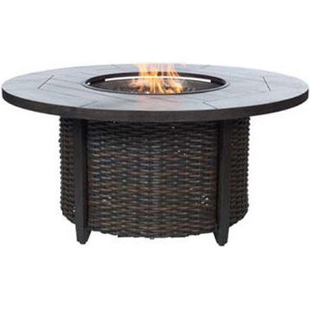 Fire Pit with Woven Base