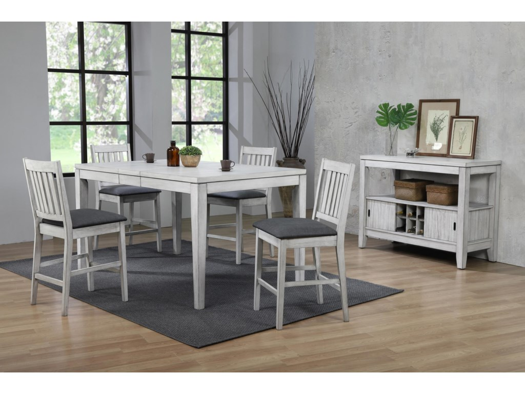 E.C.I. Furniture Summer Winds5 Piece Counter Height Dining Room