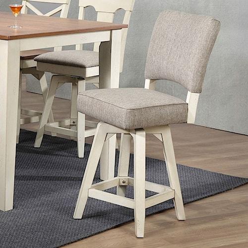 E.C.I. Furniture 0740 Counter Height Parsons Swivel Stool