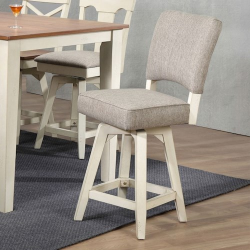 E.C.I. Furniture 0740 Counter Height Parsons Swivel Stool