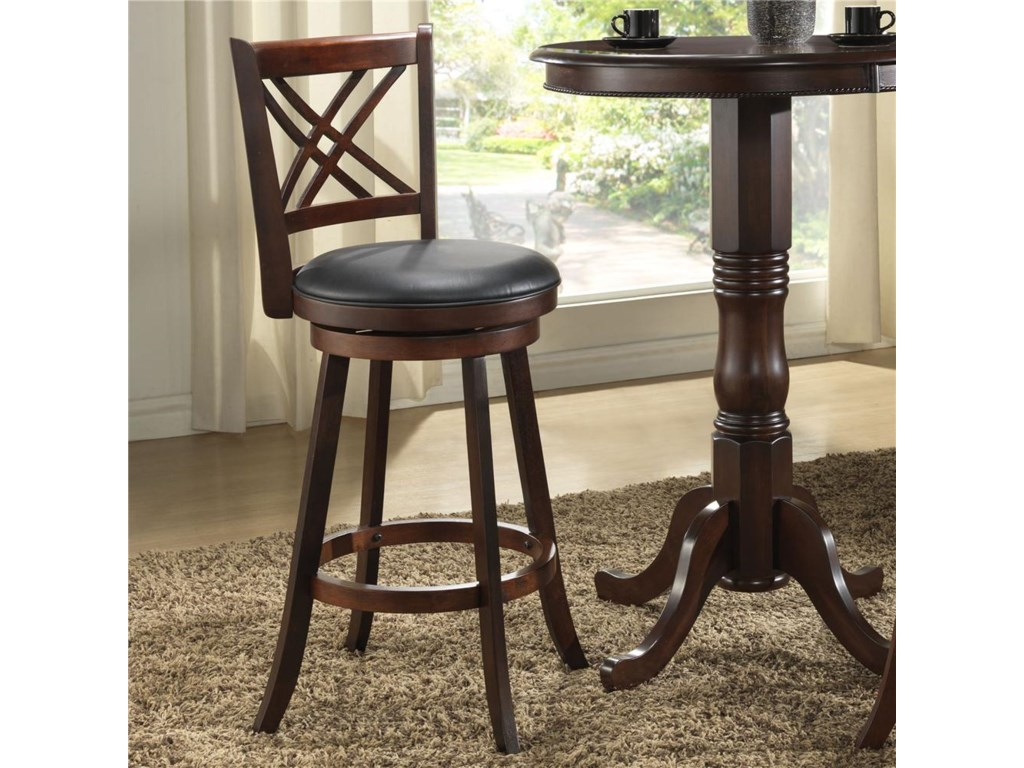 E.C.I. Furniture Burnished Collection3Pc Bar Height Pub Table & Stools