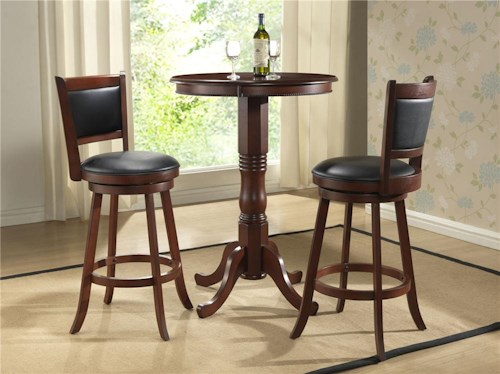 E.C.I. Furniture Burnished Collection 3Pc Bar Height Pub Table & Stools