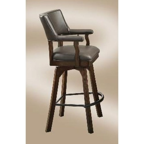 E.C.I. Furniture Bar Stools Champion Deluxe Swivel Barstool with Upholstered Seat and Back