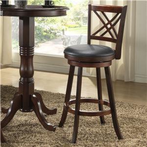 Eci Furniture Bar Stools 24 Walnut X Back Counter Stool
