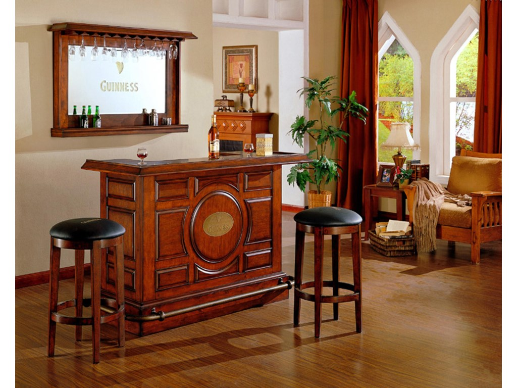 E.C.I. Furniture BarsGuiness Bar with Mirror