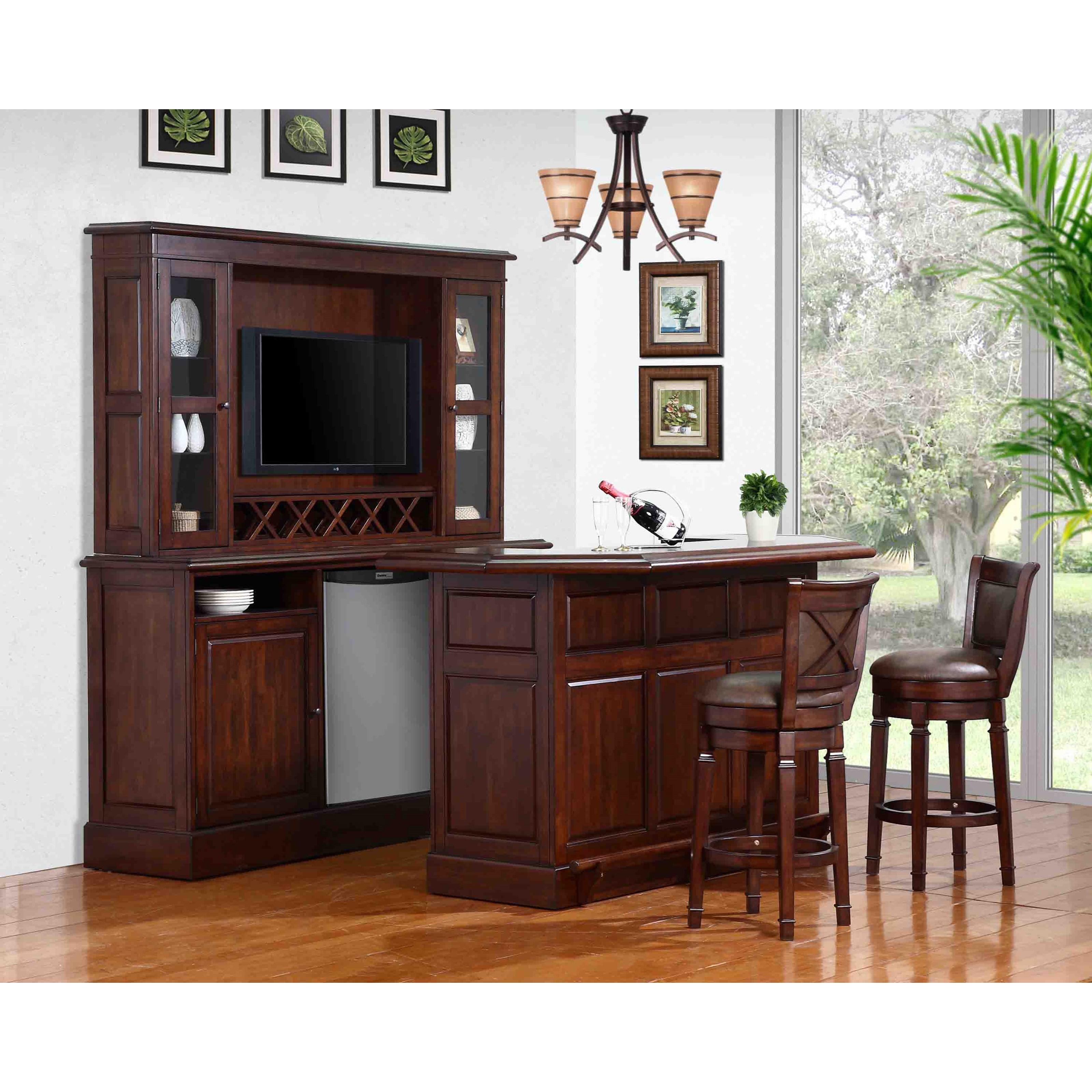 E.C.I. Furniture Belvedere 0411Complete Bar And Stool Set