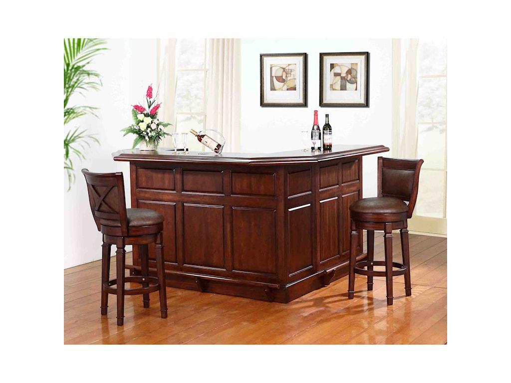 E.C.I. Furniture Belvedere-0411Bar Set With Stools