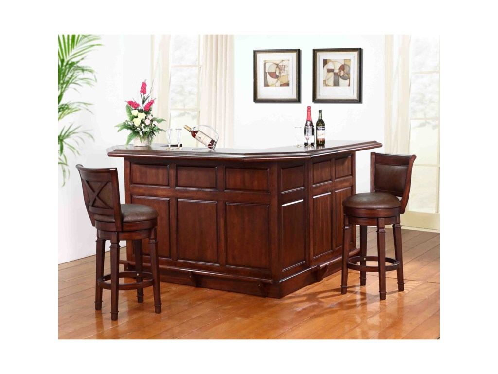 E.C.I. Furniture Belvedere-0411Bar with Return