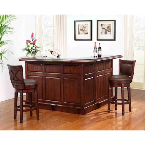 E.C.I. Furniture Belvedere-0411 Bar with Return and Built-In Wine Rack