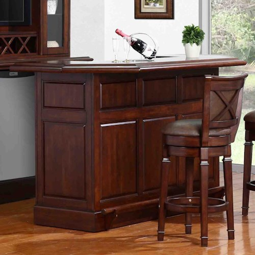 E.C.I. Furniture Belvedere-0411 Bar with Built-In Wine Rack