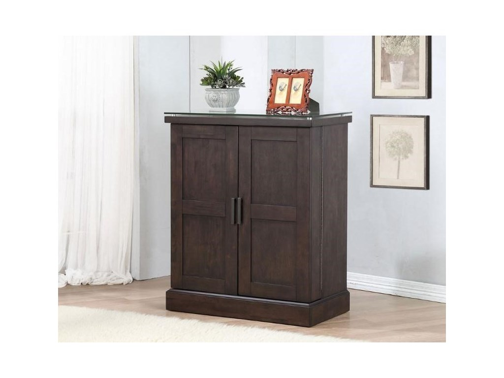 Eci Furniture Black Oak Spirit 0155 50 Sc Bar Cabinet With A Wine