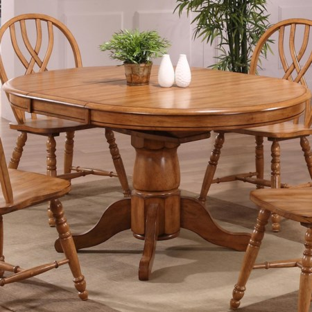 Single Pedestal Dining Table