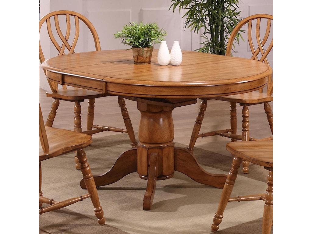 Pedestal Kitchen Table Dining solid oak single pedestal dining table furniture and eci furniture dining single pedestal dining table workwithnaturefo