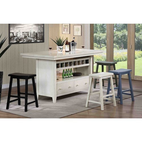 E.C.I. Furniture Dining  Casual Kitchen Island Group