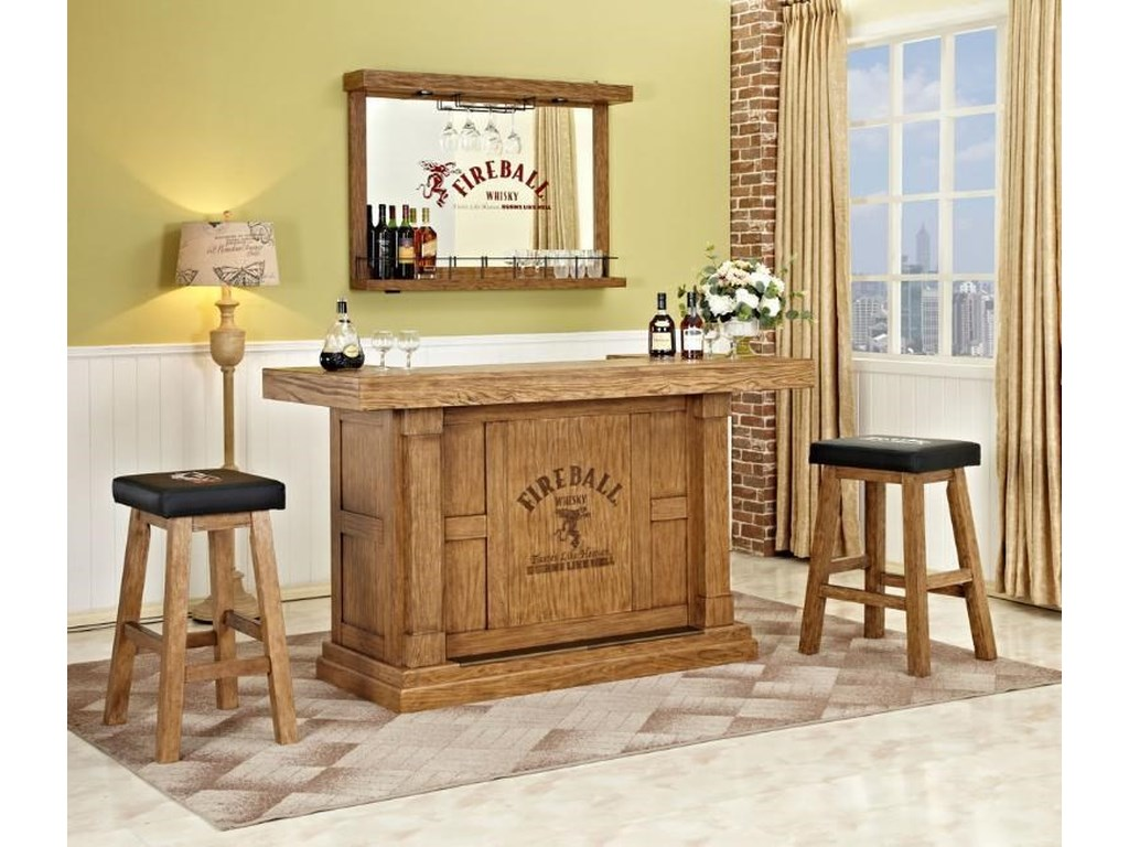 ... E.C.I. Furniture 0775Wall Bar with Mirror. 1; 2