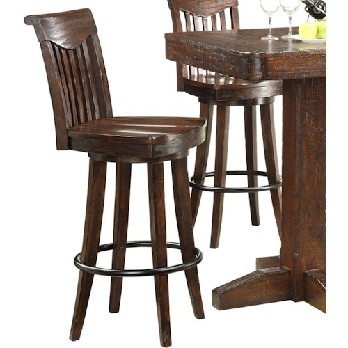 E.C.I. Furniture Gettysburg Bar Stools w/ Sculpted Seats