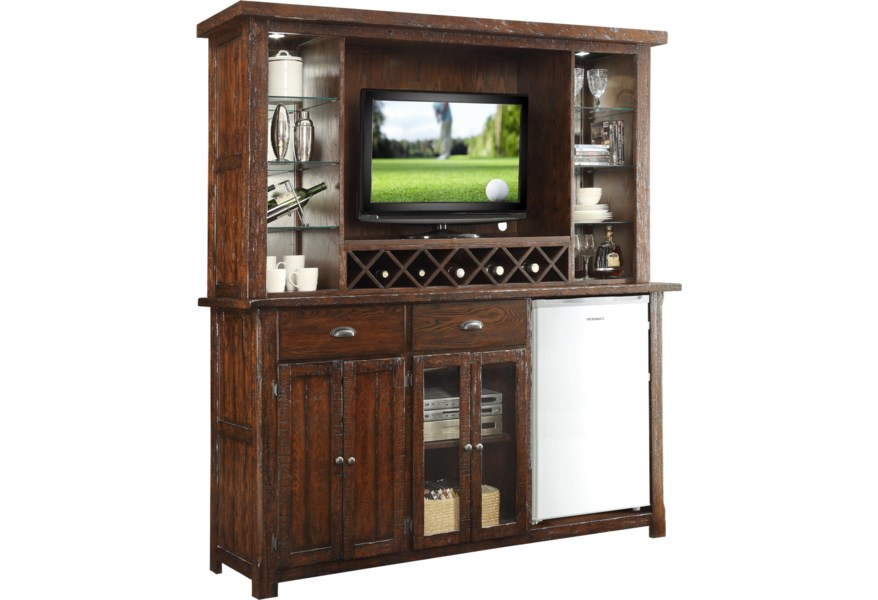 Gettysburg Bar Cabinet With Built In Wine Rack By E C I Furniture At Dunk Bright