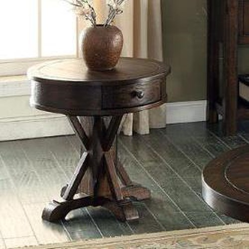 E.C.I. Furniture Gettysburg Round End Table with Drawer