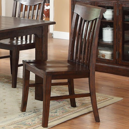 E.C.I. Furniture Gettysburg Dining Slat Back Side Chair