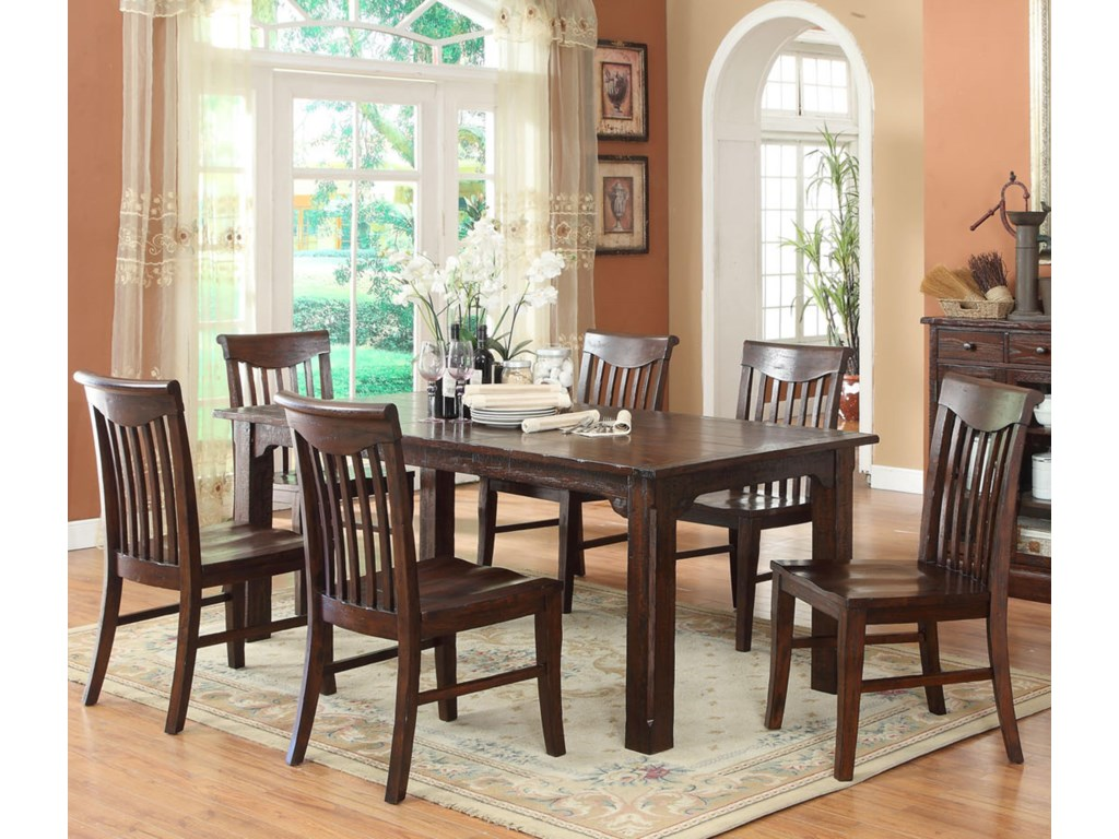 E.C.I. Furniture GettysburgTable and 4 Side Chairs